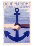 Colonial Maritime League Giclée-tryk af Paul Colin