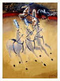 Paul Colin Circus Horse Giclée-tryk af Paul Colin