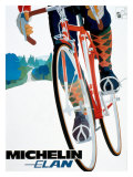 Michelin Elan Bicycle Tire Poster Lámina giclée