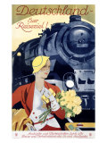 German Railway, Spring Giclee Print