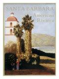 Santa Barbara American Riviera Giclée-trykk