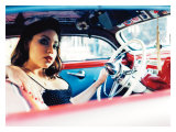 Pin-Up Girl: Low Rider Giclée-tryk af David Perry