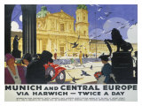 LNER, Munich and Central Europe, Lner, 1929 Giclee Print by Ludwig Hohlwein