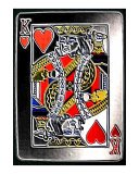 Embossed King Of Hearts Photographic Print by Teo Alfonso