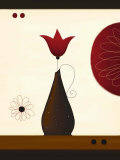 A Single Red Tulip Poster by Jo Parry