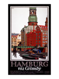 LNER, Hamburg via Grimsby, c.1927 Giclee Print by Frank Newbould