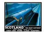 LNER, Scotland by the Night Scotsman, 1932 Giclee Print by Robert Bartlett