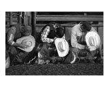Praying Cowboys Photographic Print by Robert C. Jones
