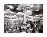 Cielo sobre Manhattan, Nueva York Láminas por Henri Silberman