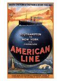 American Line, Southampton to New York, 1913 Giclee Print