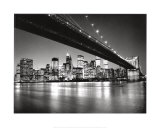 New York, New York, Manhattans skyline Plakat af Henri Silberman