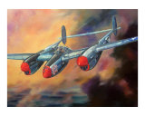 P-38 Lightning Giclee Print by jack connelly