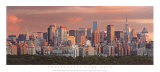 Sunset over New York Skyline Prints by Hank Gans