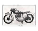 1961 B.S.A. A7 500cc Motorcycle Giclee Print by David Carlile