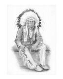 Native American Blackfoot Indian Giclee Print by David Carlile
