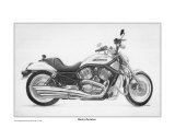 Harley Davidson Motorcycle Reproduction procédé giclée par David Carlile