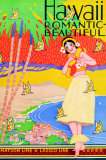 Hawaii, Romantic and Beautiful Posters