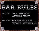 Bar Rules Plechová cedule