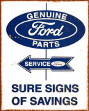 Food Parts and Service Tin Sign