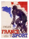 Sport francese- Biciclette Stampa giclée di A. Bernat