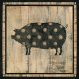 Polka Pig II Prints by Lisa Hilliker