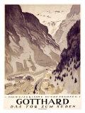Gotthard Giclee Print by Otto Baumberger