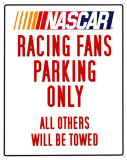 Nascar Parking Placa de lata