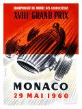 Championnat du Monde des Conducteurs, XVIIIe Grand Prix de Monaco de Formule 1, 1960 (affiche) Impression giclée par Jose Lorenzi