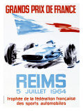 Grand Prix de France, Reims, 1964 Reproduction procédé giclée