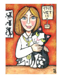 Tux Cat Goes To The Vet Giclee Print by Jamie Wogan Edwards