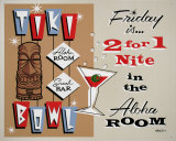 Tiki Bowl Cartel de chapa