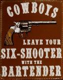 Cowboys Tin Sign
