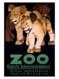 Zoo Grosste Schenswurdigkeit Giclee Print