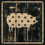 Polka Pig I Print by Lisa Hilliker