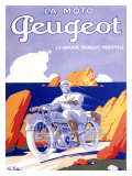 Peugeot Motorcycle Giclee Print by G. Favre