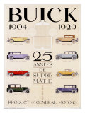 Twenty-Five Years of Buick Automobiles Giclee Print