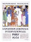 Exposition Coloniale, Paris 1931 Reproduction procédé giclée par Jacques de la Neziere