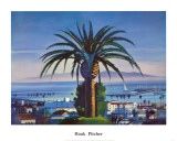 Island View Art Print by Hank Pitcher