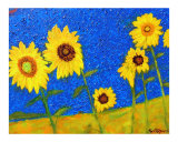 Sunflowers in Tuscany II Giclee Print by Ron DeMore