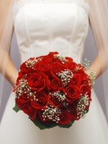 Bride with bridal bouquet Photographic Print