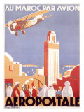 Marocco via Aeropostale Airline Giclee Print