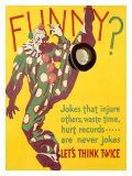 Think Twice Clown - Giclee Baskı