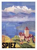 Swiss Spiez Giclee Print