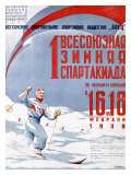 Russian Snow Skiing Competition Giclee Print
