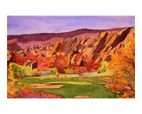Littleton, Colorado Golf Course Giclee Print by Christine La Grow