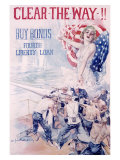 WWI, 4th Liberty Bond, Clear the Way Giclee Print by Howard Chandler Christy