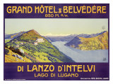 Grand Hotel and Belvedere, Lanzo d'Intelvi Giclee Print