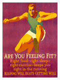 Mather - Feeling Fit Motivational - Giclee Baskı