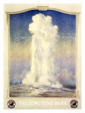 Northern Pacific Railroad, Yellowstone Giclee Print by Edward Brener