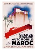 Casablanca International Rally Reproduction procédé giclée